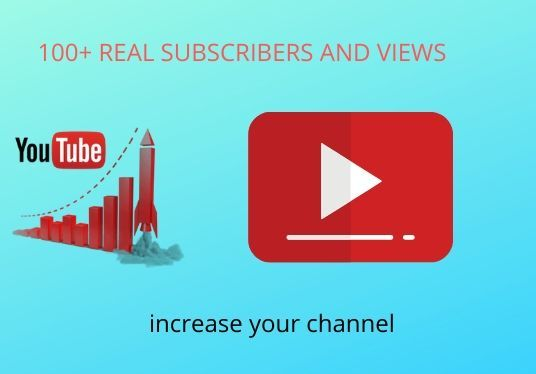 I will Give You 100+ Subscribers And Views For Your Youtube Channel