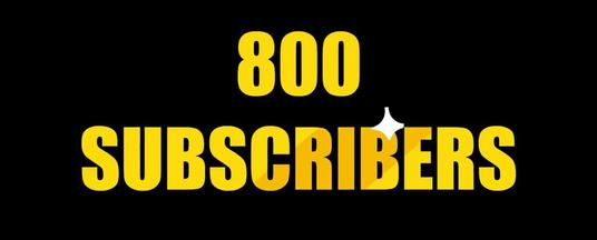 I will Provide 800+ USA  Active  YouTube Subscribers