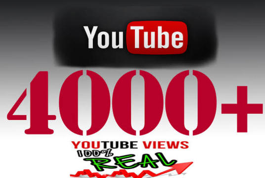 I will Give Targeted  4000+ Non- Drop Youtube views