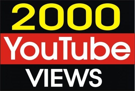 I will Provide  2000+ Real  Youtube Video Views