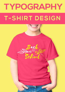 Create a typography T-shirt design