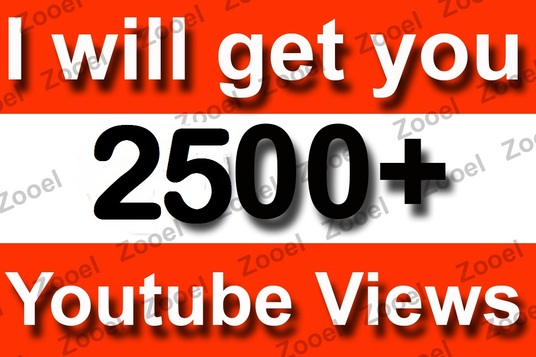 I will Provide 2500+ Youtube Video Views, 85+ likes, 25+ subscribers