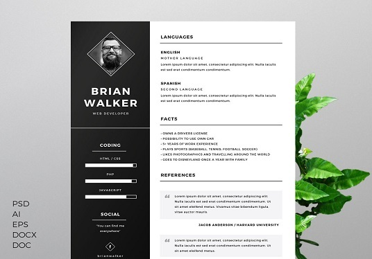 I will design CV and Resume