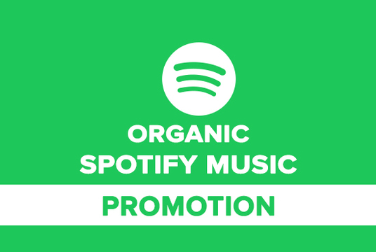 I will do organic spotify  music plays promotion