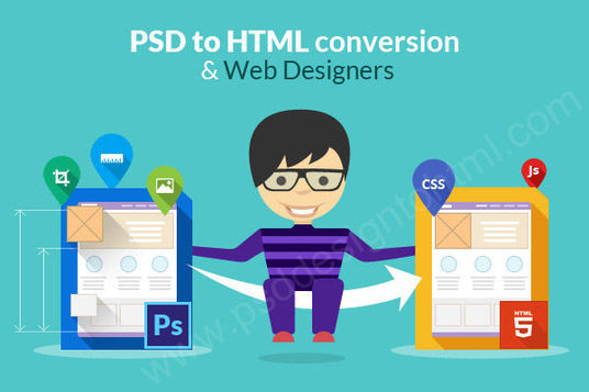 I will convert any complex PSD to responsive html, css-scss, javascript