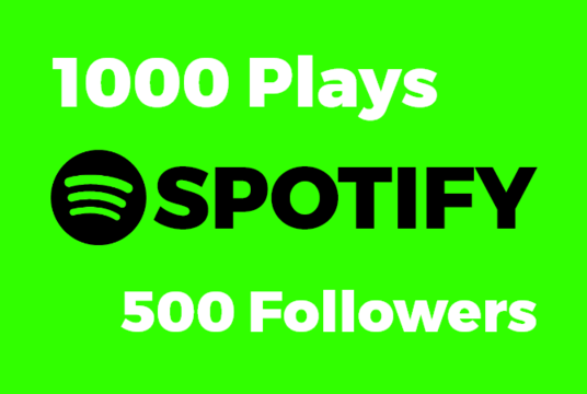 I will provide  500 Spotify  Followers with 1000 Spotify plays