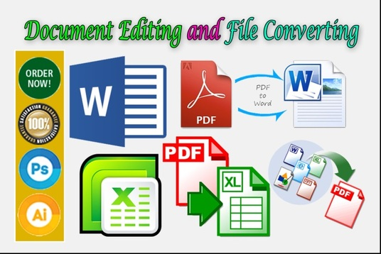 I will create, edit pdf and convert pdf, doc, image or any file