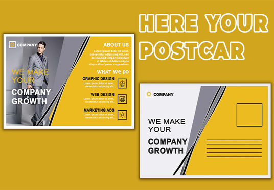 I will design a professional quality postcard