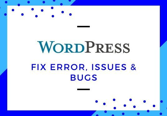 I will fix WordPress error, issues and bugs