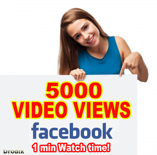 I will Provide 5000 Facebook Video Views - Watch Time