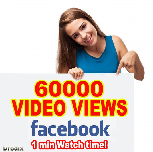 I will Provide 60000 Facebook Video Views - Watch Time