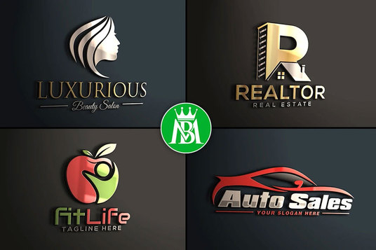 I will do modern luxury business logo design
