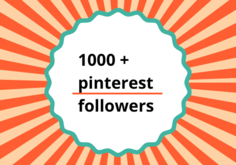 I will provide 1000  Pinterest followers high quality