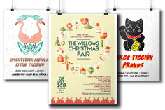 I will design an unique poster for your Christmas event