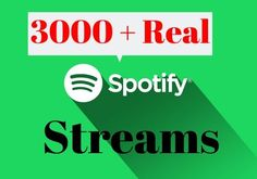 I will Provide 2000+ Spotify Real & Active Users Plays Superfast