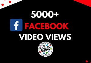 I will add 5,000  facebook video views