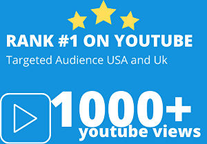 I will deliver 1000+ AdSense safe YouTube Views