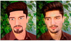 I will do vector portrait for you