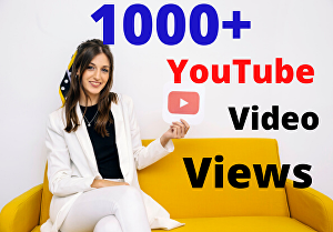 I will give 1000+You Tube High-Quality Human views