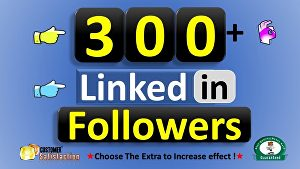 I will Provide 300+ Linkedin Real Followers