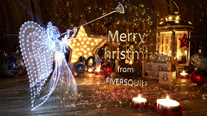 I will amazing christmas video intro with your logo or your text
