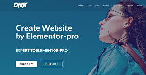 I will create website by Elementor Pro or Divi Builder