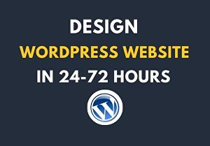I will install WordPress and design  WordPress website in 24 hrs