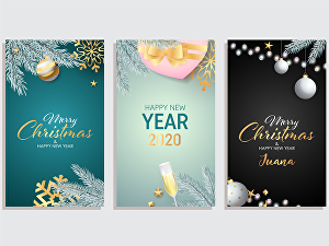 I will design Christmas card, Christmas logo or greeting card
