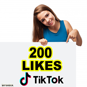 I will Provide 200 Tik Tok Likes NON DROP