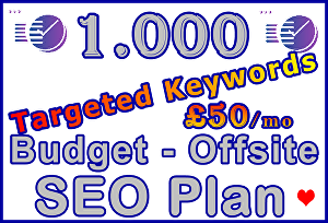 I will Target 1,000 Keywords with Powerful Budget - Offsite SEO Plan