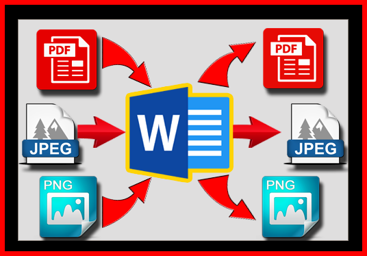 convert PDF or image files to editable word documents