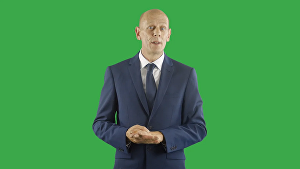 I will create a green screen british actor spokesperson promo video
