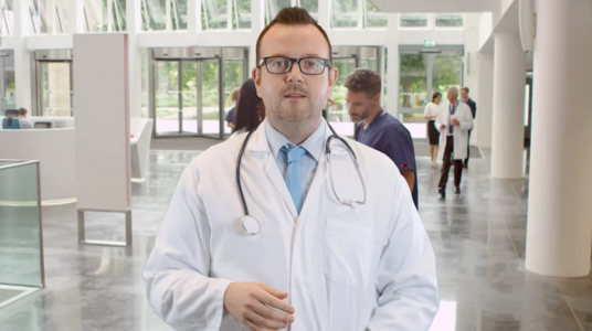 be your scientist doctor spokesperson actor in lab coat for medial health video commercial