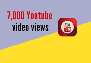 I will provide 7000 organic youtube video views