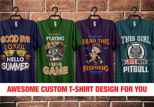 create awesome t-shirt design