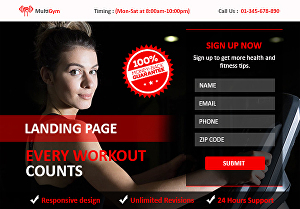 I will create high converting landing page for you
