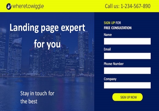 create high converting landing page for you