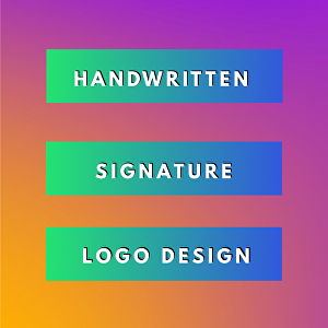 I will create a handwritten signature logo