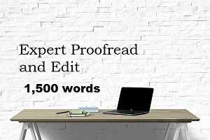 I will professionally proofread and edit up to 1,500 words of text for your website or blog
