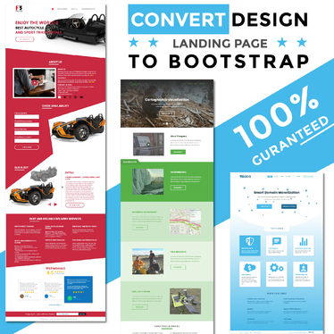 build a high converting design landing page to bootstrap