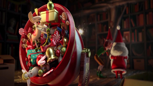 create funny holiday video with santa and elf