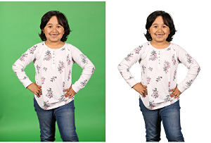 I will do green screen background removal in photoshop