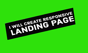 I will create responsive  landing  page  website