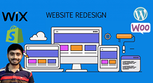 I will build modern website or redesign wix, wordpress, squarespace, shopify website