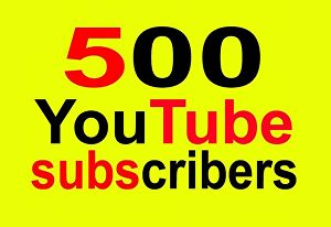 I will give You 500+ Youtube Subscribers for Your Channel