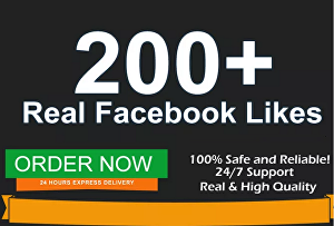 I will Add 200 Facebook Likes