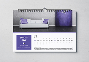 I will Design Professional & Creative Wall Or Desk Calendar