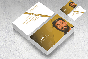 I will create modern and minimal business card design within 1 day