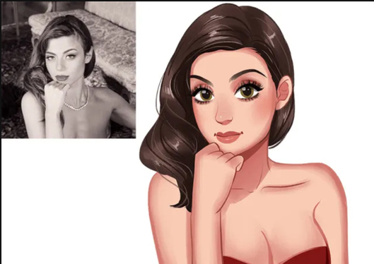 cccccc-draw your cartoon portrait in my disney style