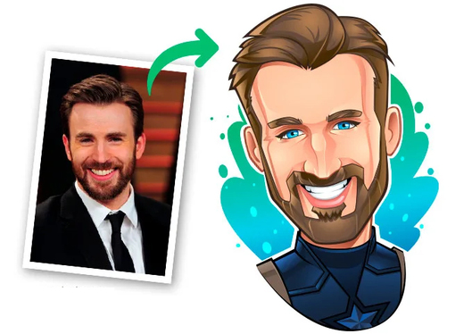 draw a cool avatar, cartoon, caricature of your photo